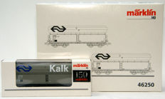 Märklin H0 - 46250/46254 - High volume self-discharging wagons of the NS