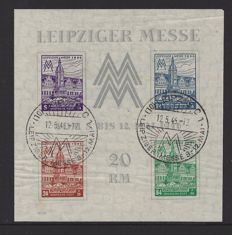 Allied Occupation 1946 Soviet Zone – West Saxony – Michel Block 5 XZ with certificate