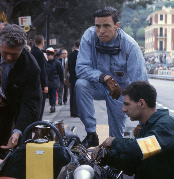 1965  Monaco Grand Prix Jim Clark Lotus Colour  Photograph 54cm x44cm