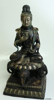 Large statue – bronze – Guanyin – China – late 20th century