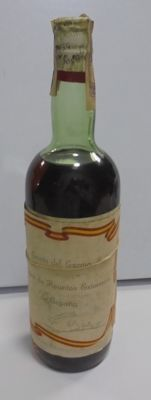 Bottle of Brandy Fundador.  1959. Pedro Domecq.