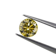 0.62 Ct. Natural Fancy Brownish Yellow Round Brilliant Diamond. GIA Certified, No Reserve Price.