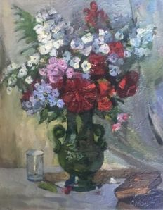 Naoum Cheer (*1958)  - Vase with flowers