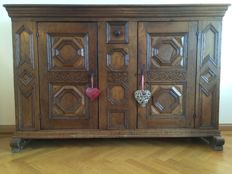 German oak buffet or so called  ' Milchschrank ', end of 17th century
