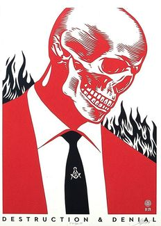 Shepard Fairey (OBEY) and Francisco Reyes JR - Destruction and Denial