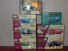 Corgi - Scale 1/43-1/50 - Lot of 7 advertising vans