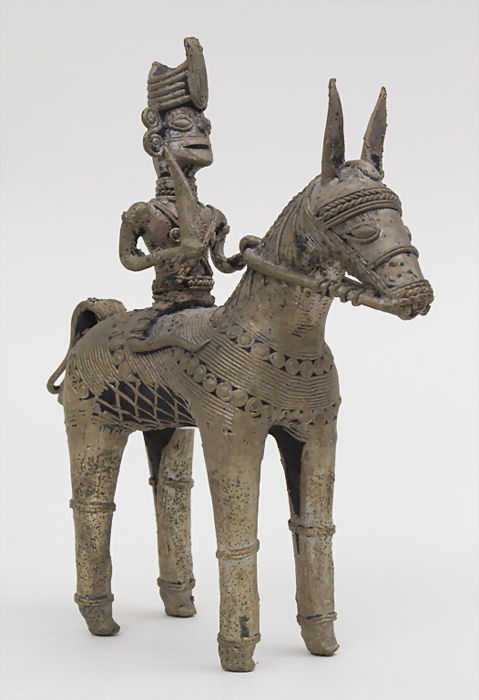 Bronze Horse and Rider - India - Late 19th Century / early 20th century