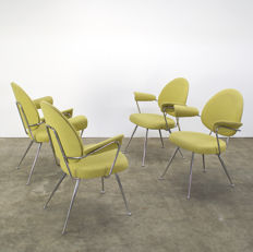 "W.H. Gispen for Kembo - ""model 302"" chairs, 4 x"