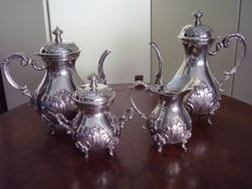 Italian 4-piece tea set, Florence, 1960