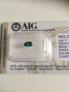 0,51ct  F.DR.GRN.Blue SI2  certificate number:D86468212BE