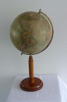 Columbus - medium, antique table globe