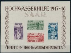 Saarland 1948 – flood water block pair – Michel Block 1 & 2