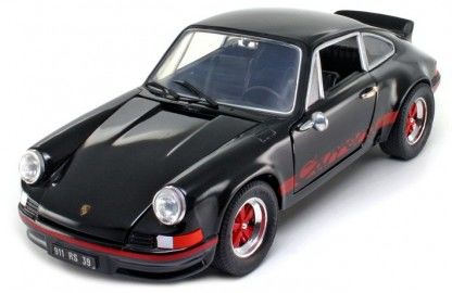 Welly - Scale 1/18 - Porsche 911 Carrera RS 1973 - Black / Red