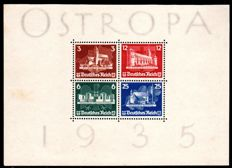 German Reich – 1935 – postage stamp exhibition OSTROPA – Michel block 3