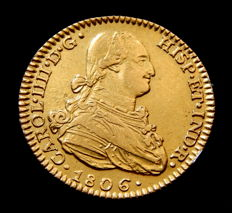 Spain - Carlos IV - Doubloon of 2 escudos 1806 Madrid FA - Gold