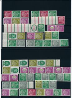 Federal Republic of Germany - 1955 - Heuss se-tenant from books with RL 1 and RL 2