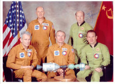 ASTP photo signed by Aleksei Leonov