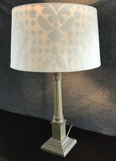 Chic lamp with brass foot - Empire style - second half of  20th century, Italy