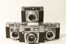 4 compact cameras, Zeiss and Agfa, 1970s-80s