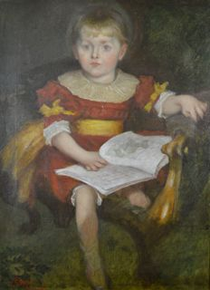 English school. (19th century) - Mary Chapman as a child.