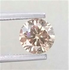 1.18 ct - Round Brilliant Cut  - Natural  Fancy Champagne  - VS2 clarity  - Comes With IGL Certificate + Laser Inscription On Girdle