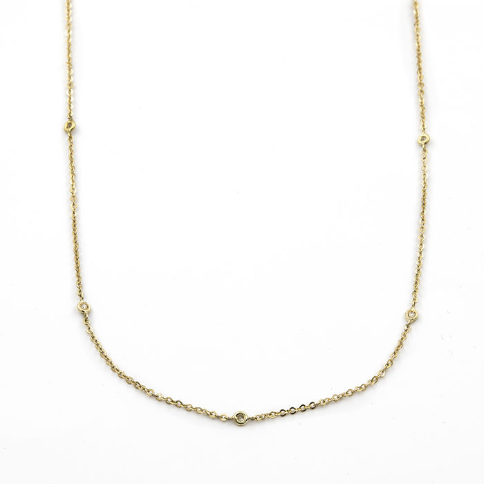 18 carats Or - Collier Diamant