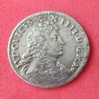 France - Louis XIV (1643-1715) - 4 Sols des traitants 1676 A (Paris) - Argent