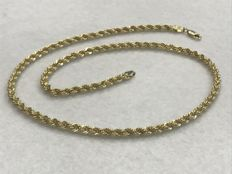 Choker in 18 kt gold, rope style – 44.80 cm