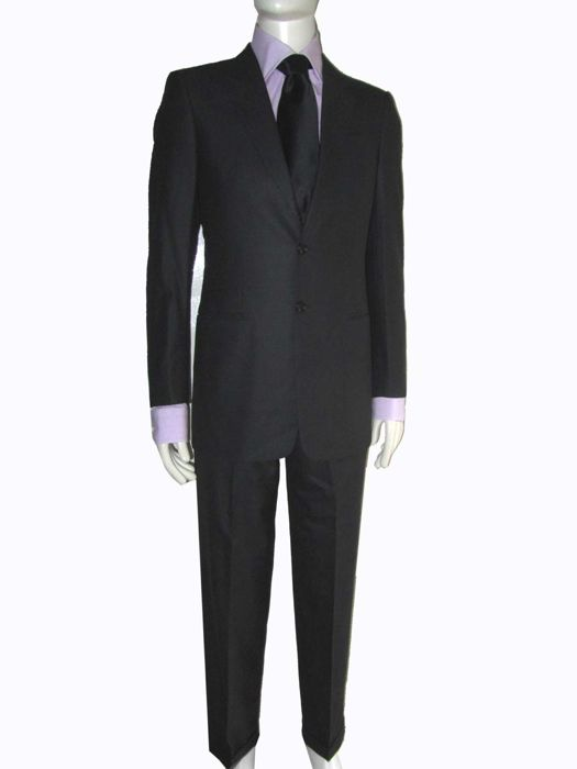 Armani Collezioni - G-Line Textured Super 150s Wool Suit