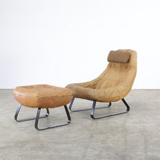 Percival Lafer for Lafer MP (Moveis Patenteados) - armchair and ottoman, 'earth chair' collection