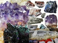 Special collection of minerals and gemstones - 8,110 g