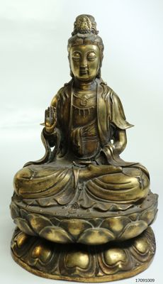 Large bronze Guanyin - China - late 20th century