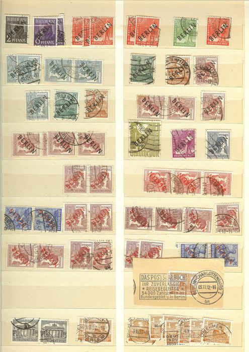 Berlin - 1948 to 1970 - duplicate collection in stock book