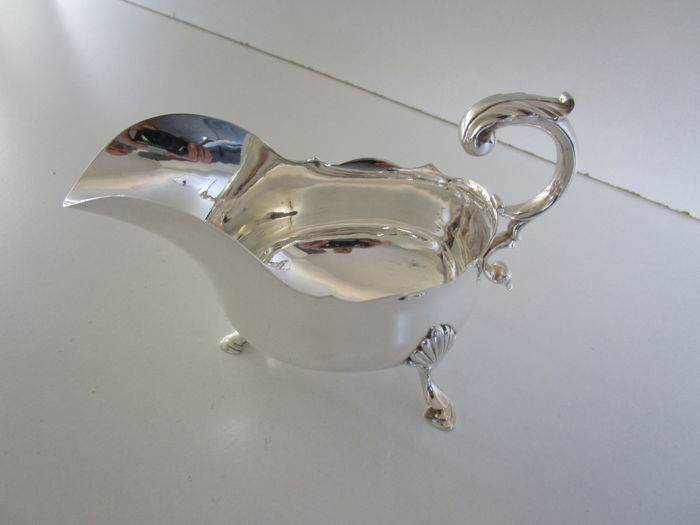 Silver Plated Sauce Boat, Atkin Brothers, Sheffield, ca. 1910.