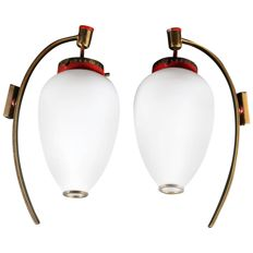 Unknown designer – Pair of vintage wall lamps