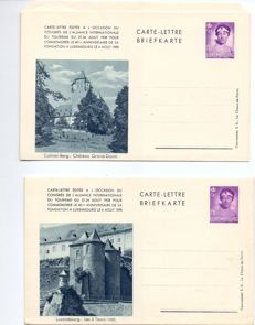 Luxembourg 1938 – Series 6 Illustrated Letter-cards