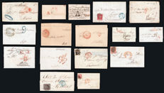 Spain 1827/1955 - Lot of 16 circulated envelopes of Madrid.