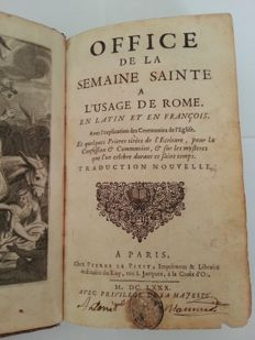 Office de la semaine sainte a l'usage de Rome - 1680