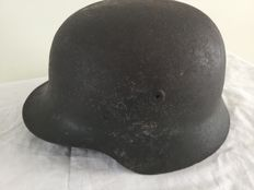 German helmet M-40 WW2. Remains Decal. Wehrmacht