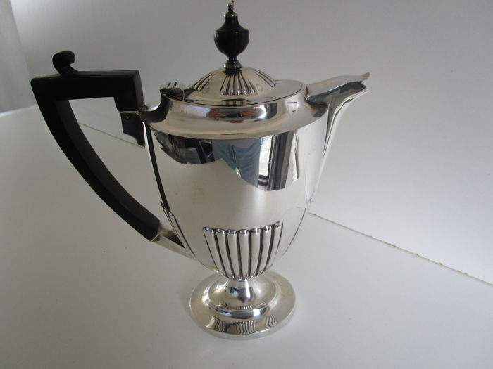 Silver Plated Coffee Pot, Roberts & Belk Ltd, Sheffield, ca. 1910.