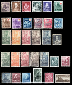 Spain. 1950/1953 – Lot with complete series– Edifil 1070, 1071/4, 1084/7, 1088/9, 1091, 1097/101, 1102, 1111/5, 1116/7, 1118, 1119/20, 1126/8