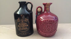 2 decanters - Hankey Bannister 21 years Old & Saltyre 12