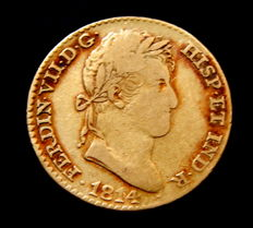 Spain - Fernando VII - Doubloon of 2 escudos 1814 Madrid GJ - gold
