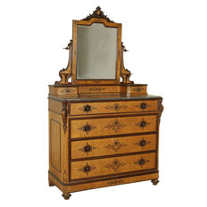 Louis Philippe dresser with mirror - Italy - mid 19th century