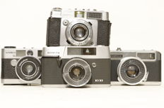 Lot of 19 compact cameras 1960s and later