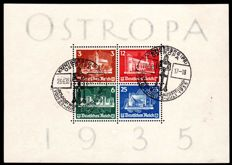 German Reich – 1935 – stamp exhibition OSTROPA – Michel block 3