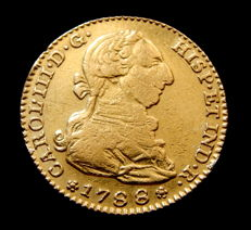 Spain - Carlos III - 2 Escudos Doubloon 1788 Madrid M - Gold.
