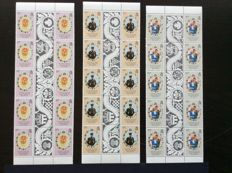 British Commonwealth - Lady Diana Royal Wedding collection Gutterstrips and stamps, sheets