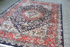 Original & Beautiful Persian Iran Kashmar handknotted 201 x 295 cm TOP Quality & Condition with certificate of authenticity