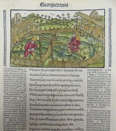 Gruninger Master; Virgil - Brandt Edition -  Georgics: Bee Keeping, Hives; Virgil's Aeneid - 1502